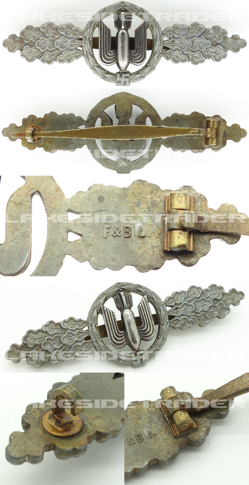 Luftwaffe Bomber Clasp in Bronze by F. Bruninghaus