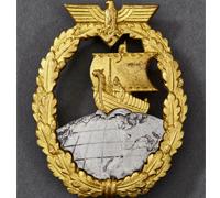 Auxiliary Cruiser War Badge by Schwerin