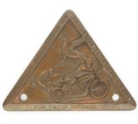ADAC Motorsport Club Plaque 1949