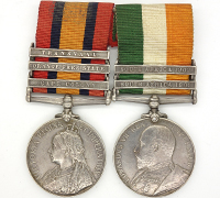 Queen's and King's South Africa Medal Bar w partial research