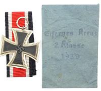 2nd Class Iron Cross by Hermann Wernstein in Issue Packet