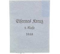 2nd Class Iron Cross 1939 Packet by Rudolf Leukert