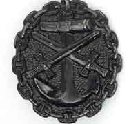 Imperial Naval Black Wound Badge
