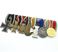 WWI & WWII - Seven Piece Medal Bar