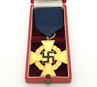 Cased NSDAP 40 Year Faithful Service Cross by Deschler