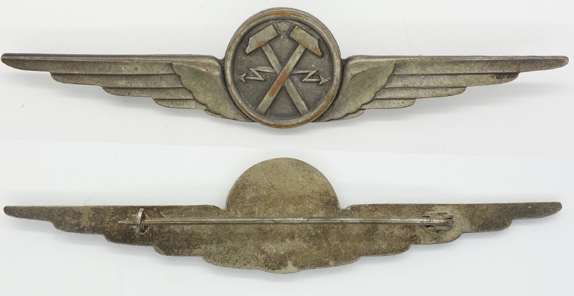 Italian Air Force Fascist Era Electro-Mechanic Qualification Badge