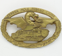 Italian Commander's Tank Badge With Original Packet Of Issue