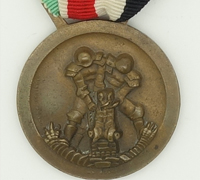 German-Italian Africa Campaign Medal With Matching Medal Ribbon Bar