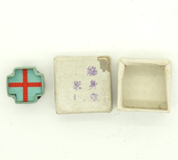 Imperial Japanese Red Cross Medal Lapel pin in issue box