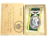 R.W. Duleys' Efficiency Medal in issue box