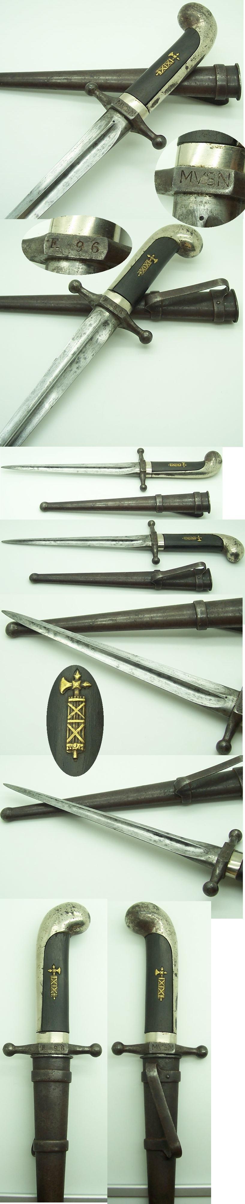 Italian Model 1923 MVSN Dagger