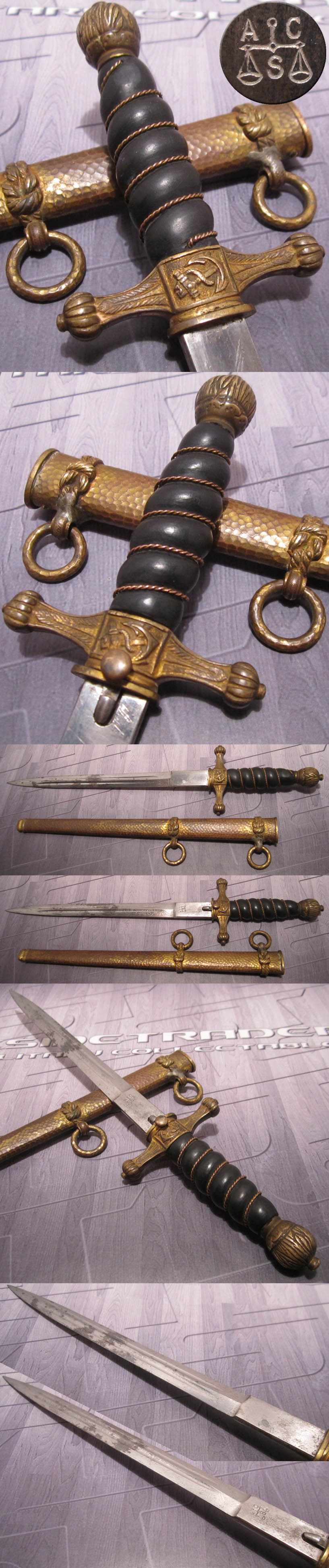 Imperial 1921 Mourning Navy Dagger by Alcoso