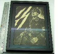 Framed SS Officer Print