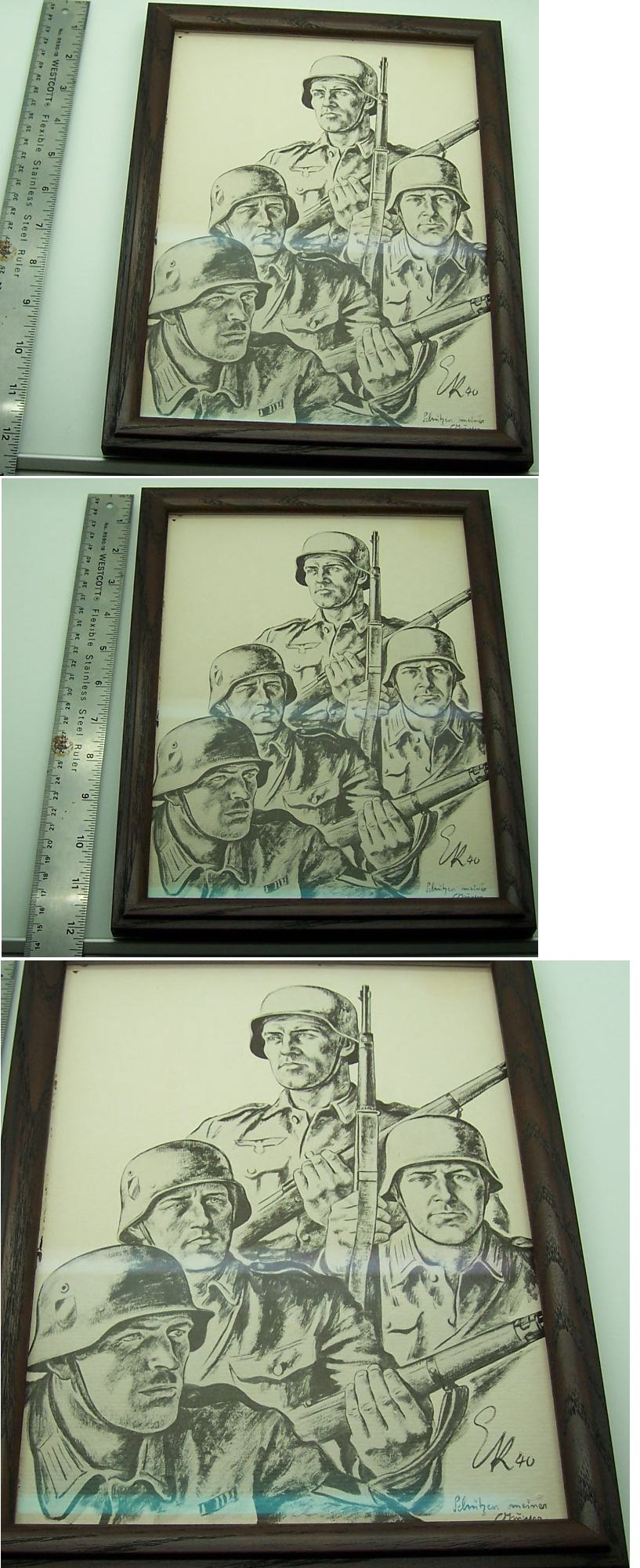 Framed Wehrmacht Soldiers Print