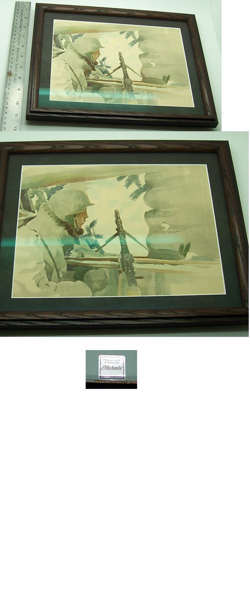 Framed Machine-Gunner Print