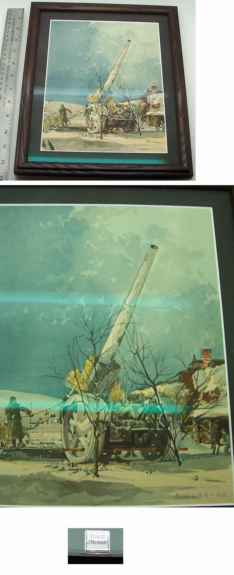 Framed Flak Print by Brauner 1942