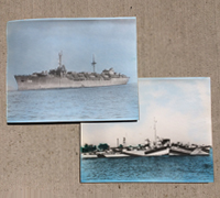 Two US WWII Navy Ships Photos