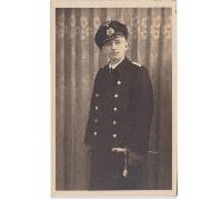 Navy Officer Postcard with dagger