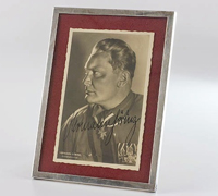 Hermann Goering Photograph, Signed in Silver Frame