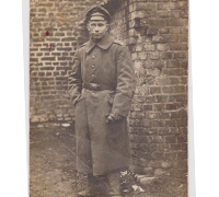 Imperial Soldier in rubble Postcard