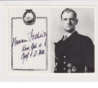 Autographed picture of Hermann Buechting