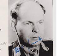 Autographed picture of Major Rudolf Schmidt
