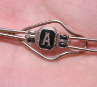 """A"" Neck Tie Pin"