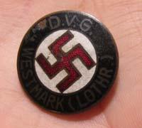 D.V.G. Westmark NSDAP Membership Pin