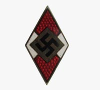 Hitler Youth Membership Pin by RZM 15