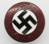 NSDAP Membership Pin by RZM No. 34