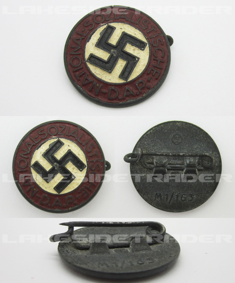 NSDAP Membership Pin by RZM M1/163