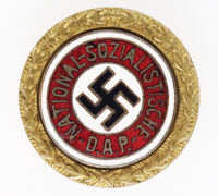 Small Golden Party Badge by Josef Fuess