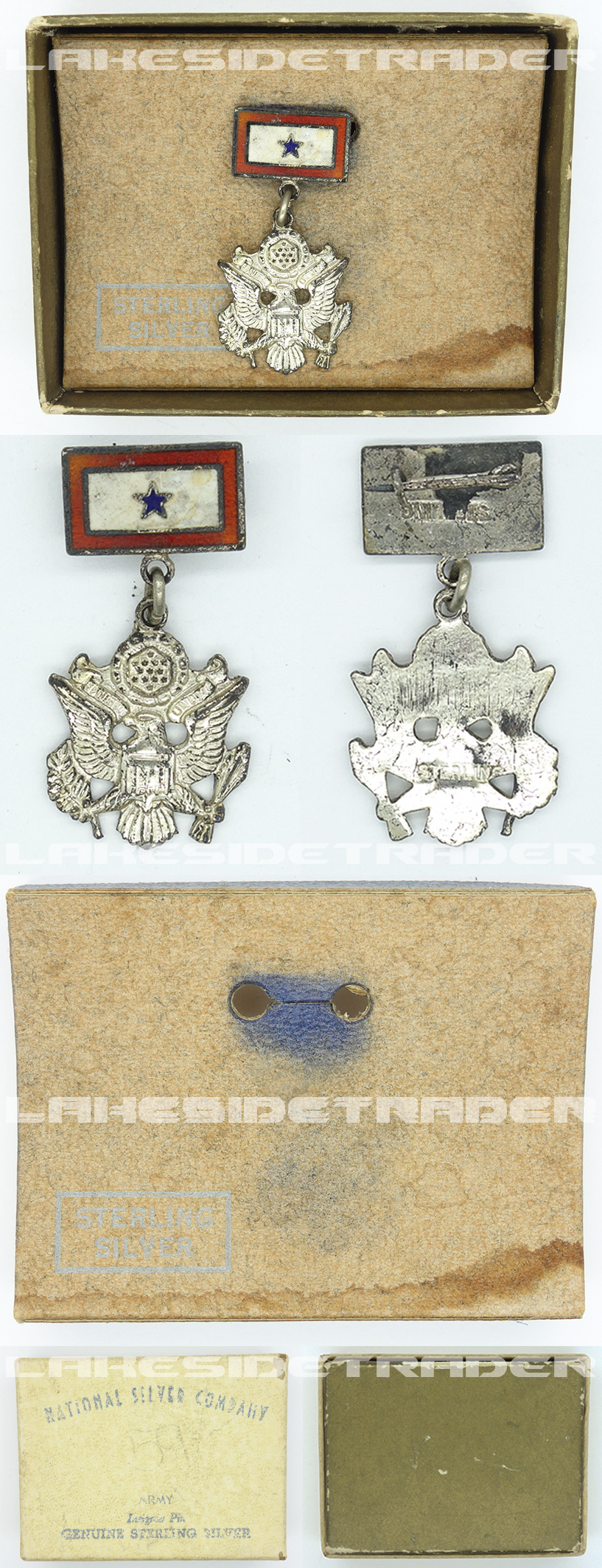 Cased U.S. Army Insignia Pin