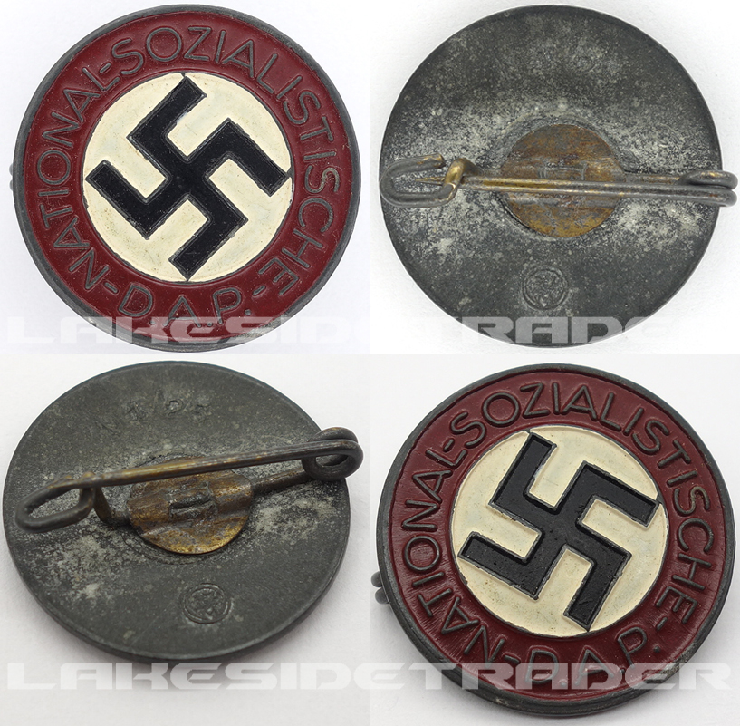 NSDAP Membership Pin by RZM M1/25