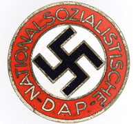 Buttonhole - NSDAP Membership Pin by RZM M1/163