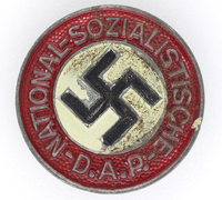 NSDAP Membership Pin by Assmann - RZM M1/17