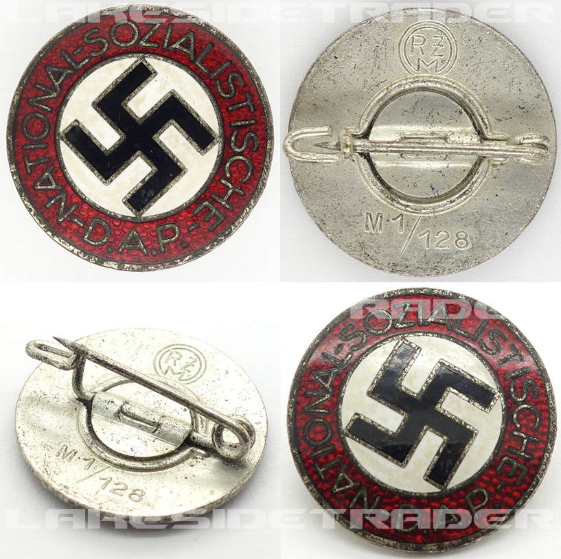 NSDAP Membership Pin by RZM M1/128