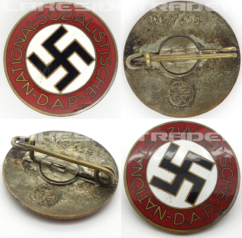 NSDAP Membership Pin by RZM M1/154
