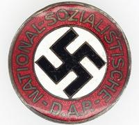 Transitional NSDAP Membership Pin by RZM 34