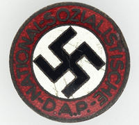 Buttonhole - NSDAP Membership Pin by RZM M1/15