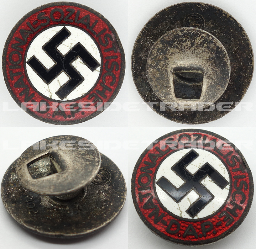 Buttonhole - NSDAP Membership Pin by RZM M1/15