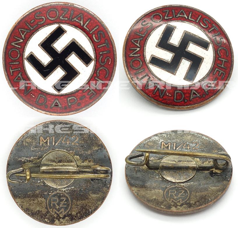 NSDAP Membership Pin by RZM M1/42