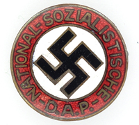 Transitional NSDAP Membership Pin by RZM 63