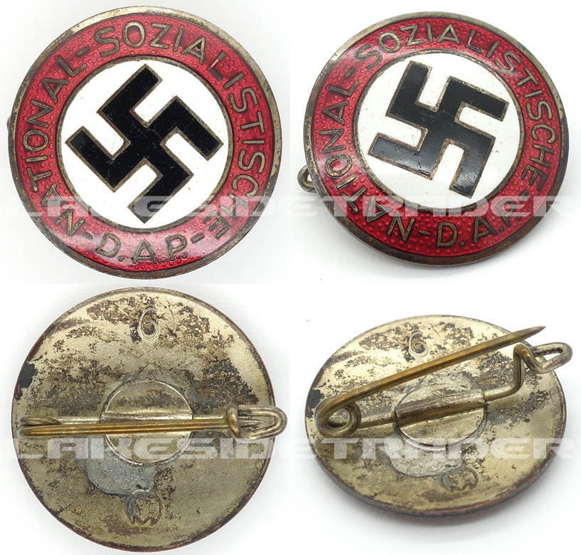 Transitional NSDAP Membership Pin by RZM 6.