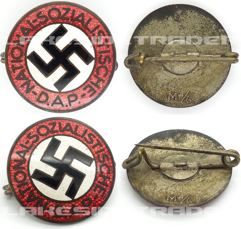 NSDAP Membership Pin by RZM M1/6