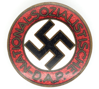 Buttonhole - NSDAP Membership Pin by RZM M1/137