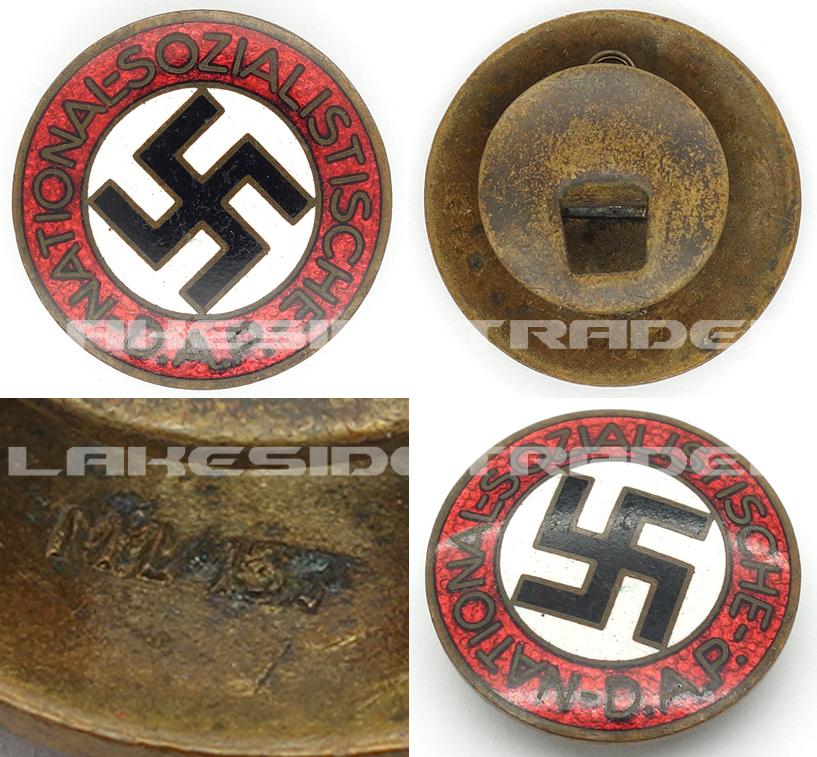 Buttonhole - NSDAP Membership Pin by RZM M1/137