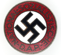 Buttonhole - NSDAP Membership Pin by RZM M1/8