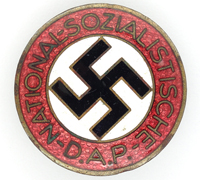 NSDAP Membership Pin by RZM M1/44