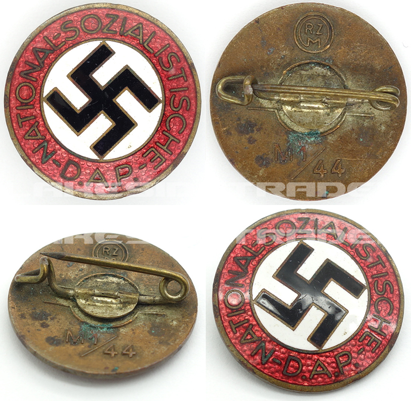 NSDAP Membership Pin by RZM M1/44